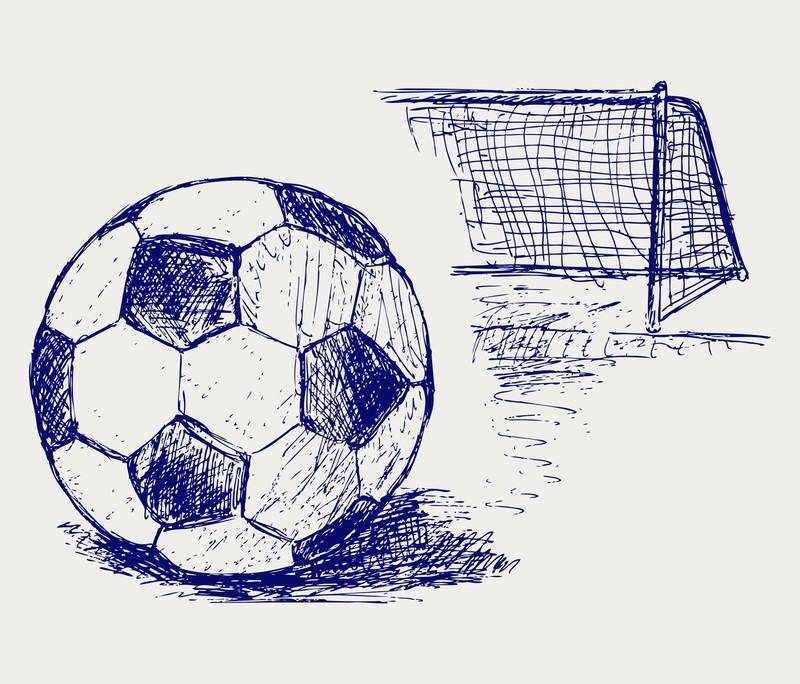 サッカーボールスケッチ